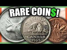 We look at 10 extremely valuable Canadian coins worth money. We look at Canadian pennies, nickels, dimes and other coins to look for in circulation. Valuable Pennies, Valuable Coins, Coin Collection Value, Rare Coin Values, Old Coins Value, Old Coins Worth Money, Canadian Coins, Foreign Coins, Coin Worth