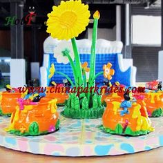 Amusement park rides,kids park rides,kids electric train rides for sale: Spinning cups, Teacup rides, Flower tea cup ride f...