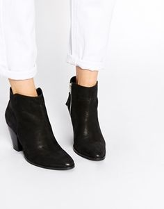 ASOS RAMSDEN Pointed Zip Leather Ankle Boots