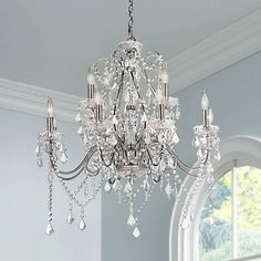 862 best crystal chandeliers images on pinterest canopy raked vienna full spectrum 30w chrome crystal grand chandelier aloadofball Image collections