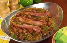 Recipe: Conecuh Sausage Pork and Beans Conecuh Sausage Recipe, Sausage Recipes, Pork Recipes, New Recipes, Cooking Recipes, Beans And Sausage, Pork N Beans, Baked Beans, Southern Recipes