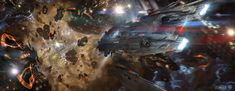 """Into the storm scene concept for the movie """"Jupiter Ascending"""". Made in 2011/2012 - by Marek Okon"""