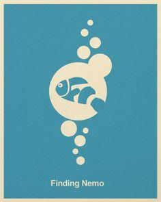 Pósters minimalistas de películas de Pixar – Puerto Pixel | Recursos de Diseño