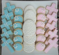 Boy/girl baptism cookies | sugartown | Flickr