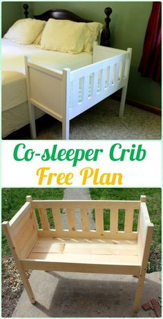 DIY Co-sleeper Crib Instruction - DIY Baby Crib Projects [Fr. DIY Co-sleeper Crib Instruction – DIY Baby Crib Projects [Free Plans] Source by bestbabyideas Baby Furniture, Furniture Plans, Furniture Buyers, Furniture Websites, Furniture Stores, Cheap Furniture, Discount Furniture, Furniture Projects, Wood Projects