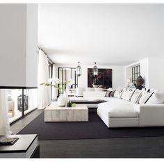 Bilderesultat for helene hennie Living Room Interior, Home Interior Design, Modern Interior, Living Area, Living Spaces, Living Rooms, Architecture Design, Open Concept Home, Mediterranean Decor