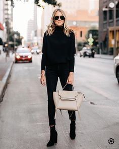 "ef4956a1718dc Amy Jackson    Fashion Jackson on Instagram  ""All black is my go-to fall  style"