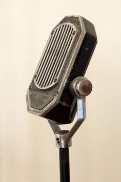 Vintage Mic...I've always wanted to sing into one of these.