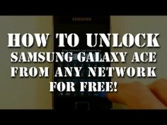 Unlock Samsung Galaxy Ace GT S5830 from any network fo free. English. 2013