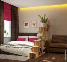 Совмещение гостиной и спальни