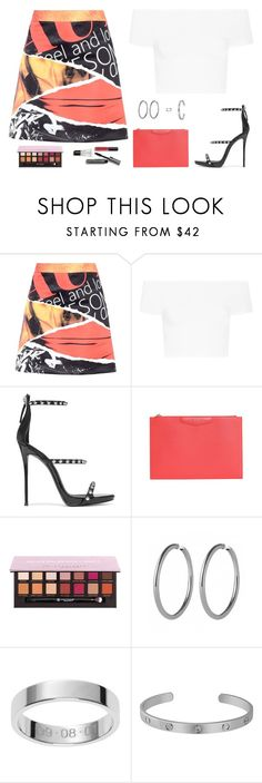 """""""Untitled #5172"""" by mdmsb on Polyvore featuring Moschino, Helmut Lang, Giuseppe Zanotti, Givenchy, Bobbi Brown Cosmetics, Anastasia Beverly Hills and Cartier"""