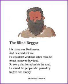 The Blind Beggar (Jesus and Bartimaeus Story) - Kids Korner - BibleWise