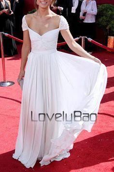 Celebrity Runway Chiffon Designer Ruching Off Shoulder Prom Gown Evening Dress