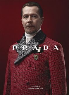 Gary Oldman, Jamie Bell, Garrett Hedlund and Willem Dafoe star in the Prada Fall/Winter 2012 menswear advertising campaign shot by David Sims. Gary Oldman, Beautiful Men, Beautiful People, Gentleman, Steampunk, David Sims, Mens Fur, Mode Vintage, Well Dressed Men