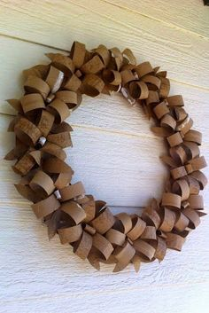 DIY 12 Paper WreathsDonate Used Books!DIY Egg carton wreath: