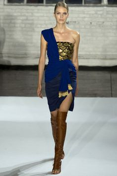 Altuzarra. Spring 2013 Ready to Wear. My favourite piece from the collection. I love the addition of that rich blue shawl.