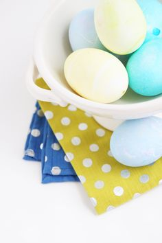 Shades of blue Easter eggs