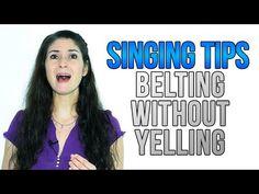 Freya\'s Singing Tips: BELTING without YELLING #singingtips #sing