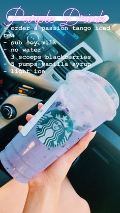 Not on actual menu** - order a passion tango iced tea - sub soy milk - no water - 3 scoops of Starbucks Frappuccino, Starbucks Hacks, Bebidas Do Starbucks, Starbucks Secret Menu Items, Healthy Starbucks Drinks, How To Order Starbucks, Starbucks Secret Menu Drinks, Health Desserts, Starbucks Recipes