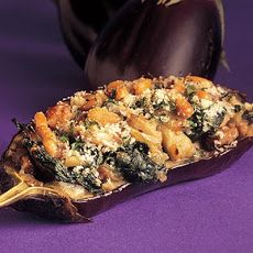 Stuff Eggplant with Mushrooms and Spinach