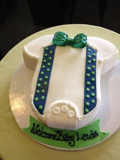 Bow Tie Baby Shower cake.  The cake looked so cute, my sister loved it!