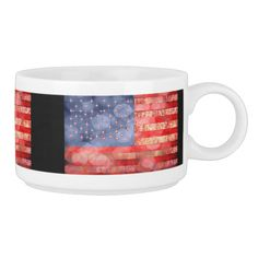 Distressed American flag with bokeh light soft pattern with frayed fabric look.