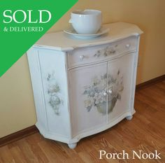 SOLD OUT Double Cabinet Hand Painted by PorchNook on Etsy