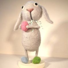 Needle Felted Wool Easter Bunny by MousePants on Etsy, $49.00