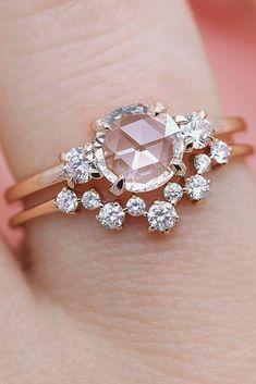 30 Unique Wedding Rings That Will Take Your Heart ❤️ See more: http://www.weddingforward.com/unique-wedding-rings/ #wedding #WeddingJewelry #WeddingRing #uniqueweddingrings