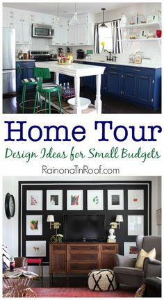Champagne taste on a beer budget? This home tour is for you! Its full of design ideas for small budgets!