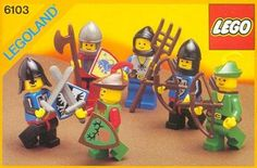 "Box art for LEGO set ""Castle Mini Figures,"" released in 1988 as part of the LEGOLAND Castle theme. I recall getting this while we were visiting family in another state. Lego Vintage, Chateau Lego, Instructions Lego, Best Lego Sets, Lego Boxes, Free Lego, Lego System, Lego Castle, Lego Bionicle"