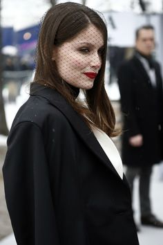 a veil, when paired with red lips and the right attitude, it can never fail