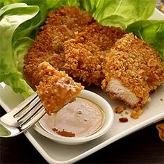 Paleo Macadamia-Crusted Chicken with Honey-Mustard Sauce Recipe - use a low carb sweetener instead of the honey. I might add mayo and/or sour cream.