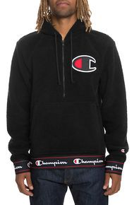 Champion The Sherpa Pullover Hoodie in Black