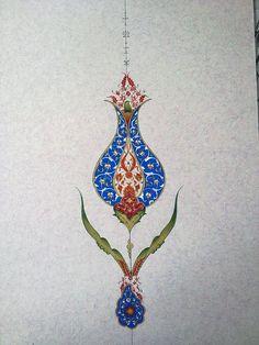 Tezhip Motif Oriental, Oriental Pattern, Stencil Patterns, Pattern Art, Arabesque, Middle Eastern Art, Islamic Art Pattern, Persian Pattern, Turkish Art