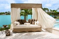 outdoor furnishing | javanese outdoor sun bed lounge furniture 30 Outdoor Canopy Beds Ideas ...