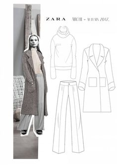 Work gown codes can be suffocating particularly for women who take pride and delight in revealing themselves through fashion. However that doesn't mean that one can't work around a gown code to still look elegant at work. Fashion Illustration Portfolio, Fashion Portfolio Layout, Fashion Design Sketchbook, Fashion Design Drawings, Fashion Sketches, Art Portfolio, Art Sketchbook, Zara Fashion, Fashion Line