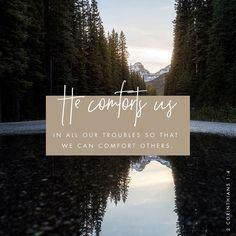 God comforts us.