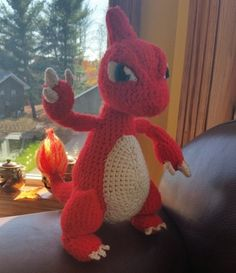 I really want to make one! Charmeleon is my favorite Pokemon but the shop owner is gone, so I can't get my hands on that pattern ;_; Crochet Charmeleon Pattern by GreenJacketCreations on Etsy