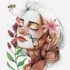 """Polubienia: 14.4 tys., komentarze: 95 – A n a    S a n t o s (@anasantos_illustration) na Instagramie: """"Ilustración de portada de la novela """"El día que sueñes con flores salvajes"""" de @dulcineastudios. Ya…"""""""