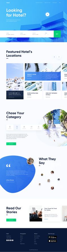 Heet hotelier landing page - Landing Pages - Create a landing pages with drag and drop. Easily make your landing page in 3 minutes. - Heet hotelier landing page Ux Design, Layout Design, Creative Design, Flat Design, Travel Website Design, Clean Websites, Landing Page Design, Web Layout, Branding