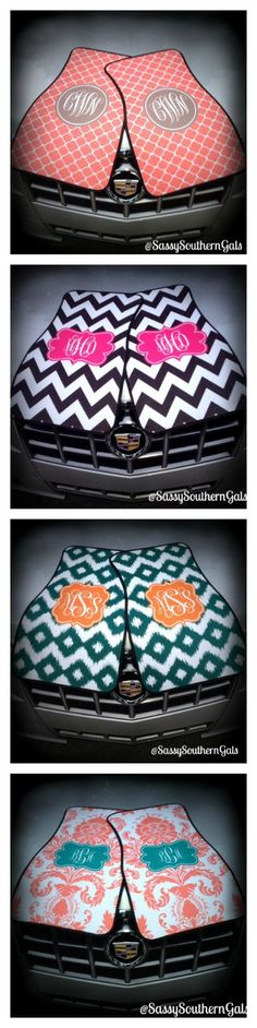 So Classy! Design your very own set of monogrammed car mats. Wide array of designs and colors. Would make a great sweet sixteen gift, 18th birthday gift, or even a 60th birthday gift! www.SassySouthernGals.etsy.com