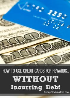 You can use credit cards for rewards - but don't fall into the debt trap!  Here are some tips to help you do just that!  #credit cards  #debt  #rewards