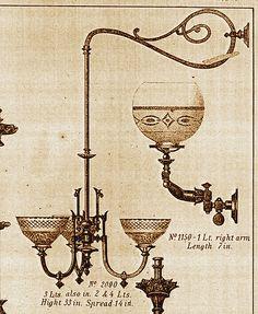 Mitchell Vance bracket chandelier 1870