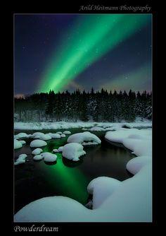 holiday, winter dream, arild heitmann, beauti place, northern lights, aurora borealis, natur, river, norway