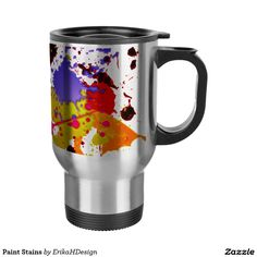 Paint Gifts Coffee & Travel Mugs Coffee Travel, Travel Mug, Paint Stain, Tea Cups, Coffee Mugs, Stains, Tableware, Gifts, Painting