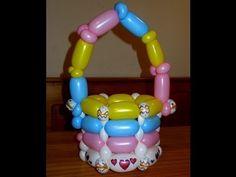 Como hacer una canasta de globos - How to make a basket of balloons - YouTube