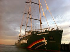 Docked at Prince's Pier, Port Melbourne (c) Greenpeace Rainbow Warrior, Sailing Ships, Melbourne, Around The Worlds, Boat, Australia, Places, Dinghy, Boats