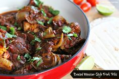 Melissa's Southern Style Kitchen: Braised Mexican-Style Pork Ribs