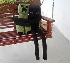 Minecraft, creeper, amigurumi, enderman Cool gift idea for my son.